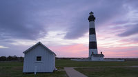 Sunrise Over The Ocean Behind the Bodie Island Lighhouse OBX