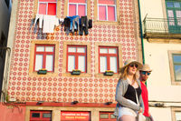 Tourists in Porto old town