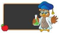 Owl teacher with chemical flask theme 3