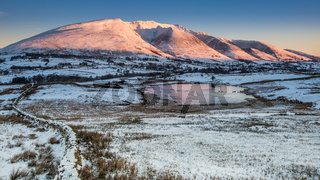 Winter sunrise on Blencathra