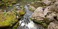 rapids called Irreler Wasserfaelle of the South Eifel Nature Park, Irrel, Eifel, Germany, Europe