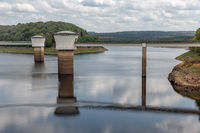 Belgian Gileppe dam with artificial lake with drinking water supplies