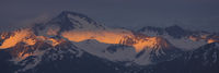 Sunset in the Swiss Alps.