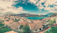 View of Ohrid Lake and town