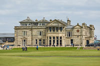 Andrews Clubhouse and Golf Course of the Royal  Ancient where golf was founded in 1754, considered b