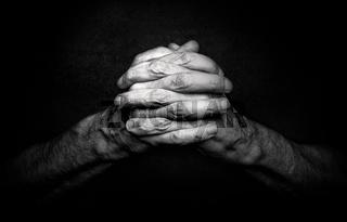 Hands of Praying Man