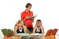 Angry teacher rates students