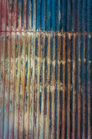 Corrugated iron aged patina