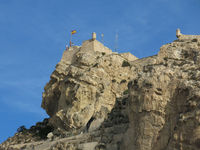 Medieval fort in Alicante, Spain.