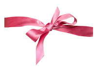 Isolated Pink Ribbon Bow