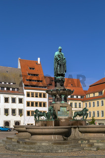statue of the town founder, Freiberg, Germany