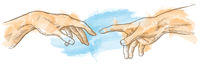 creation of adam hand drawn Watercolor painting [Convertito].eps