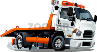 Cartoon tow truck isolated on white background