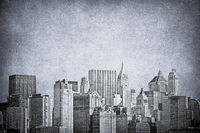 Vintage image of New York City skyline