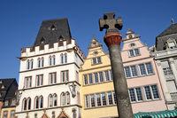 Trier - Häuserzeile am Hauptmarkt, Deutschland