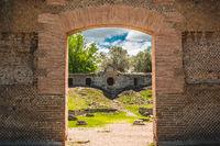 archaeology ruins roman civilization catacombs in Rome Tivoli - Lazio - Italy