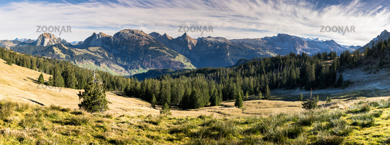panorama mountain landscape in the Swiss Alps