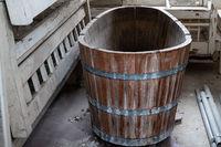 Bathtub in wood