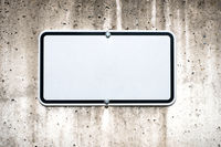 blank sign on wall mock-up -  parking spot sign mockup -