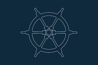 Ships Wheel Icon Vector