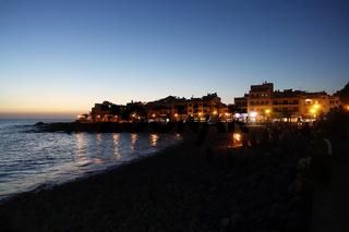 Abendstimmung am Strand von la Playa in Valle Gran Rey, La Gomera, Spanien