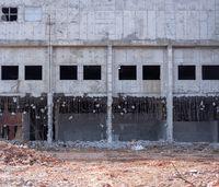 dismantled building