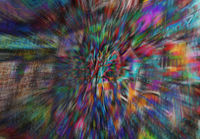 Blurred psychedelic graffiti background