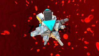 A Nano Bot in the human blood stream