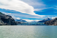 View of Grey Glacier and Grey Lake in Torres del Paine National Park
