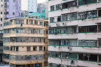 Residential building pattern in Hong Kong