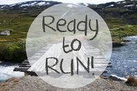 Bridge In Norway Mountains, Text Ready To Run