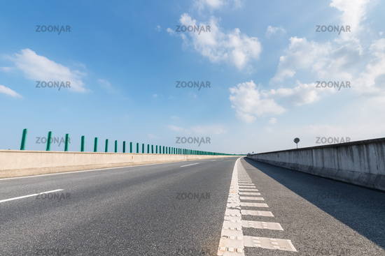 expressway and asphalt road surface
