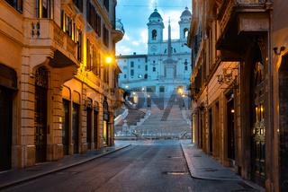 Spanish stairs and church