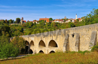 Rothenburg Tauberbruecke - Rothenburg in Germany, the old bridge over the river Tauber