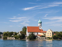 Church in Wasserburg, Lake Constance, Germany
