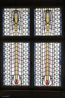 Art Nouveau windows in the spa sprudelhof Bad Nauheim