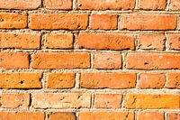 Red old brick wall texture
