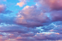 Evening sky colorful clouds