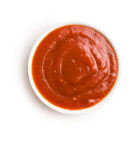 Tasty red ketchup.