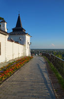 South-eastern square tower of Tobolsk kremlin. Tobolsk. Russia