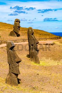 Moai at Rano Raraku on Easter Island