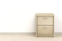 Modern wooden nightstand