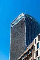 Low angle view of 20 Fenchurch skyscraper in London