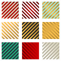 Diagonal stripped band background in several colors.