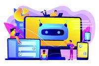 Chatbot development platform concept vector illustration.