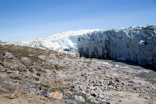 Panoramic View of Russell Glacier in Greenland