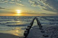 Baltic Sea on the coast of Mecklenburg-Western Pomerania