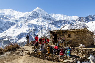 Hiking on the Annapurna Circuit in Nepal