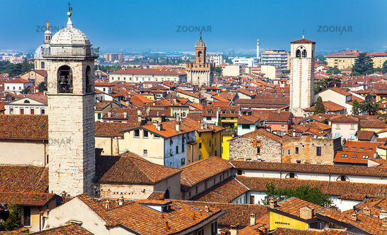 View of Brescia Lombardy Italy