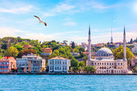 Beylerbeyi Mosque, view from the Bosphorus, Istanbul, Turkey